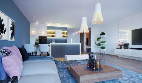 3D Visualisierung Top 5 Wohnzimmer